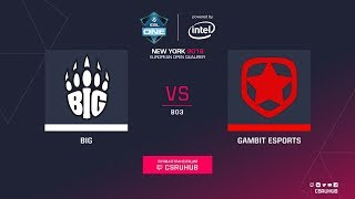 BIG vs Gambit - ESL One NY EU Quals - map2 - de_train [ceh9]