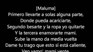 Cancion La Temperatura de Maluma. LETRA.