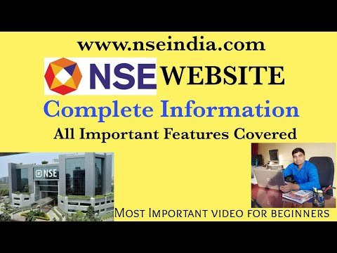 How To Use NSE Website? NSEIndia Website Full Tutorial in Hindi | PE Ratio in NSE  | Anil Maurya