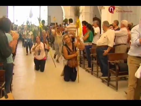 Peregrinación al Rocío, llegada al Santuario