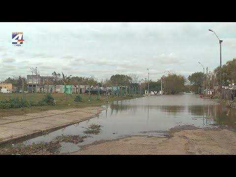 La semana próxima el río llegaría a 8,70. Director del Sinae recorrió la zona afectada en Paysandú