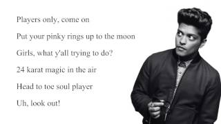 Bruno Mars-24K Magic Lyrics