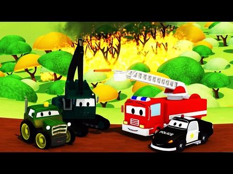 Video La Super Patrulla: camión de bomberos y patrulla de policía, y Incendios Forestales en Auto City download in MP3, 3GP, MP4, WEBM, AVI, FLV January 2017