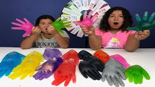 Video 3 COLORS OF GLUE SLIME GLOVES CHALLENGE MYSTERY WHEEL OF SLIME EDITION! MP3, 3GP, MP4, WEBM, AVI, FLV Agustus 2018
