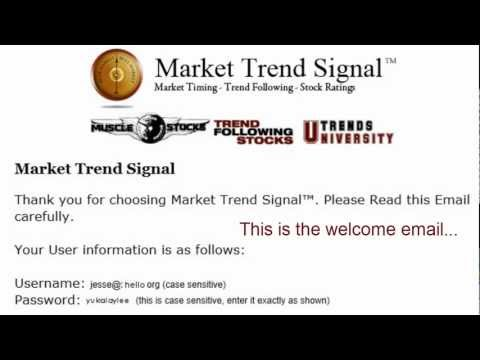 Market Trend Signal – How to Login