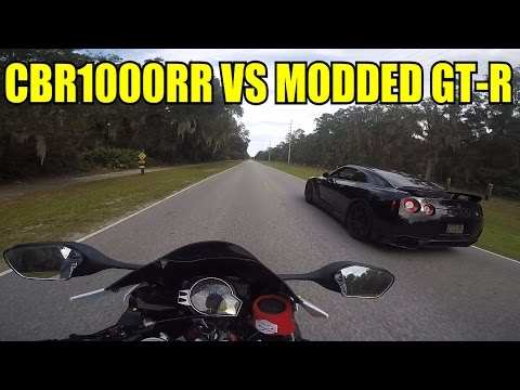 CBR1000rr Vs. Modded GT-R (Alpha 7)