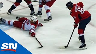 Andre Burakovsky Lays Big Hit, Steals Puck & Roofs It Past Mrazek by Sportsnet Canada