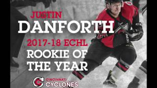 CYCLONES TV: Justin Danforth named 2017-18 ECHL Rookie of the Year
