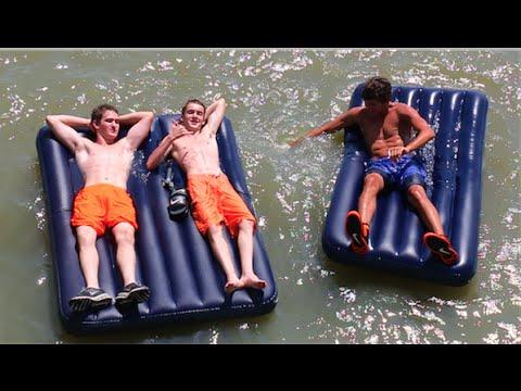AIR MATTRESSES ON THE LAKE!