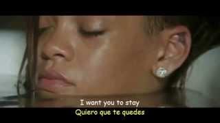 Rihanna  - Stay ft Mikky Ekko ( Lyrics Video Sub Español) Official Video