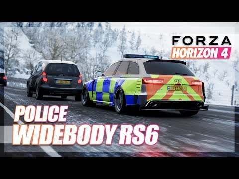Forza Horizon 4 - Widebody Police Audi RS6 in WINTER! (Exploration)