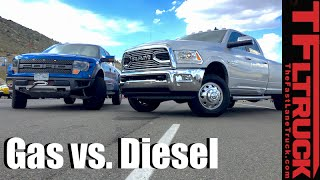 Top 5 Pros & Cons of Diesel vs Gasoline Pickup Trucks by The Fast Lane Truck