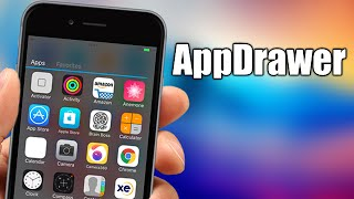 AppDrawer - iOS 9 Jailbreak Cydia Tweak, ios 9, ios, iphone, ios 9 ra mat