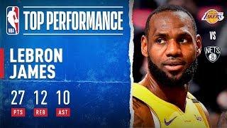 LeBron drops Triple-Double! by NBA