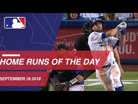 Watch all the home runs hit on September 18, 2018
