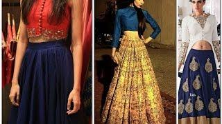 Fashionable Women Lahenga with crop tops