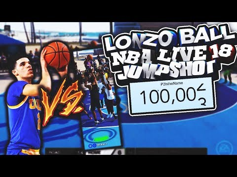 SHOOTING W/ LONZO BALL'S NBA LIVE 18 JUMPSHOT! + 100,000 SUBSCRIBERS! (видео)