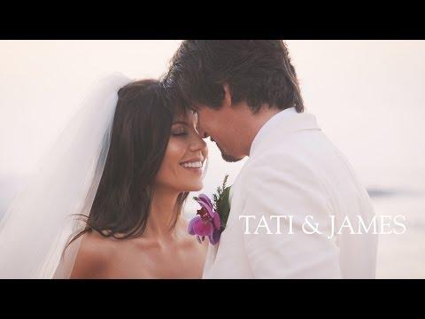 OUR WEDDING | Tati and James Wedding (видео)