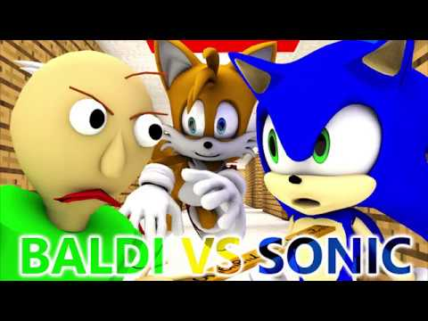 BALDI'S BASICS VS SONIC (Official) Baldi Minecraft Animation Horror Game (видео)