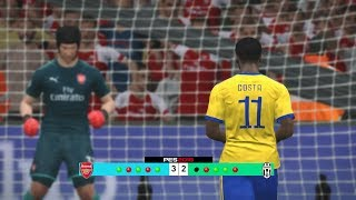 Arsenal vs Juventus Penalty Shootout Simulated #PES2017 [New Kits 2017/18]Subscribe : https://goo.gl/hOkuyhTwitter : https://twitter.com/LionelPesG+ : https://goo.gl/Bz7FAmPatch : SS Patch Scoreboard : PES 2018 by aziz17 https://goo.gl/d9qAGGAdboard : PES 2018 by Abid Nabawi https://goo.gl/okOQzO