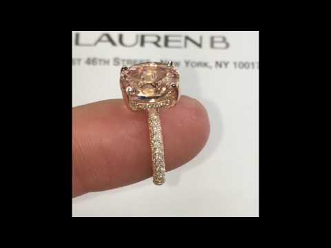 4 carat Oval Morganite Engagement Ring