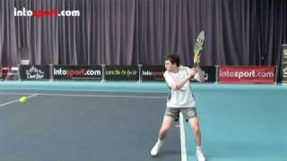 Tennis Highlights, Video - Tennis Backhand- Slice Technique