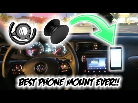 The BEST Car Phone Mount Money Can Buy!!! *Only $15* ( Pop Socket and Pop Clip!! ) (видео)