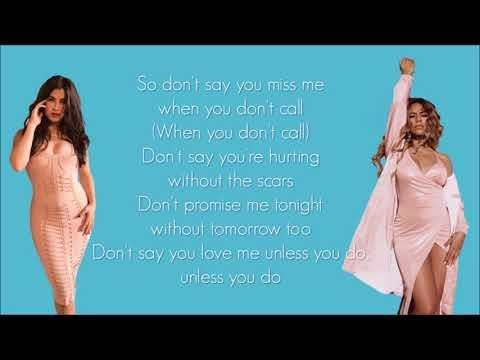 Fifth Harmony -  Don't Say You Love Me (Lyrics)
