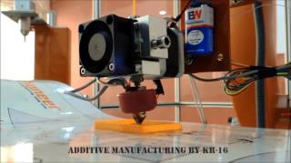 Additive Manufacturing By KR-16 An ingenious way of printing material with a low initial investment! From the setup to the product, ...