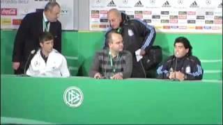 Diego Maradona erkennt Thomas Müller nicht