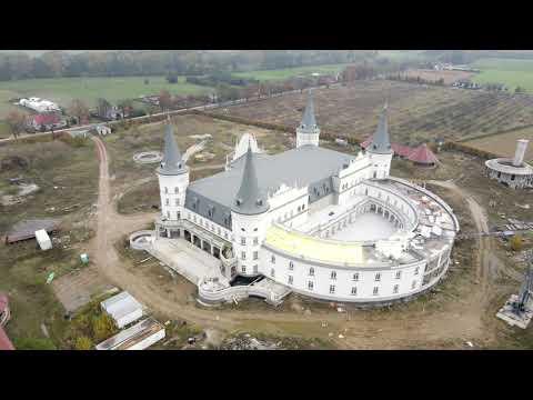 Bajkowy zamek pośrodku pola na wielkopolskiej wsi