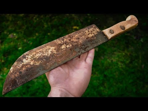 Turn A 2€ Rusty Knife Into High-end Japanese Chef's Knife