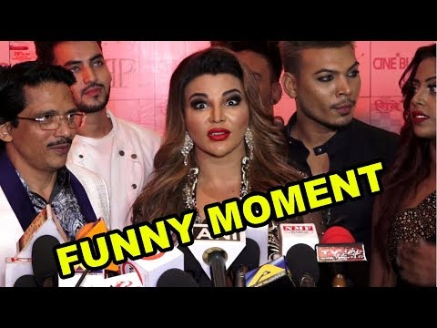 "Rakhi Sawant FUNNY Moments With Media At  ""Cinebuster Awards"" 2018"