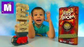 Дженга Бум играем в игру строим башню на бомбе Jenga Boom