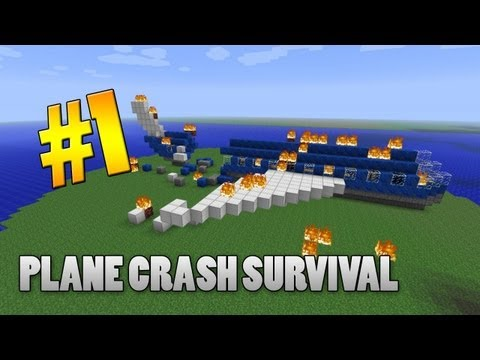 Minecraft 1.3.2 Adventure Map - Plane Crash Survival: Part 1