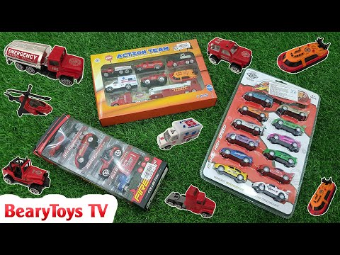 Learn colors for children with cars, trucks, police car, toys for kids