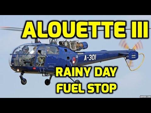 Alouette III Helicopter: Rainy...