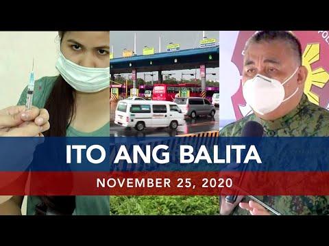 UNTV: Ito Ang Balita | November 25, 2020