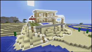 Minecraft Tutorial: How To Make A Beach House (Biome House)