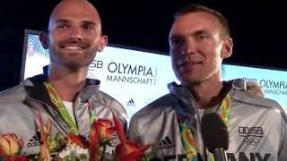 Olympia 2016 - Rio: Gold für den Männer-Doppelvierer im Rudern.