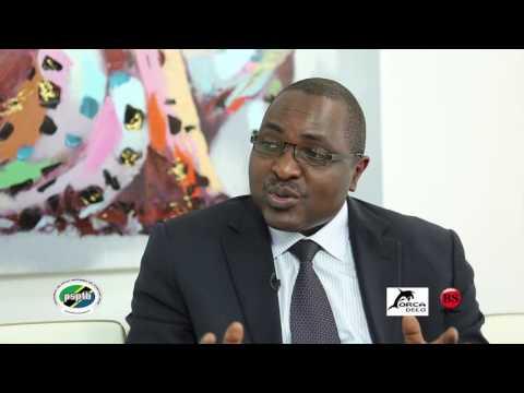 Mr Richard Kayombo from Tanzania Revenue Authority (TRA) explaining on EFD receipts usage
