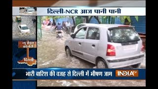 Heavy rains lash Delhi-NCR, several regions waterlogged