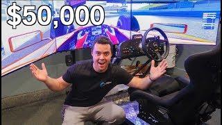 MY FRIEND'S INSANE $50,000 DRIVING SIMULATOR!!! by Vehicle Virgins
