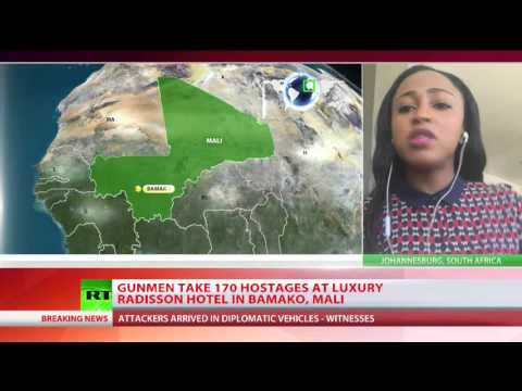 RT News:  Gunmen take 170 hostages at luxury Radisson hotel in Bamako, Mali