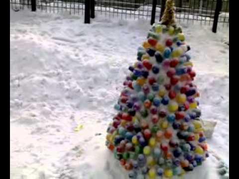 Снежные фигуры из шаров своими руками
