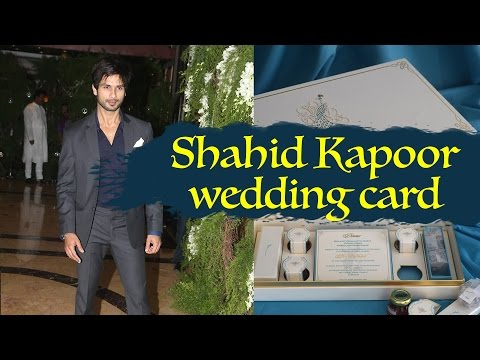 Shahid Kapoor And Mira Rajput's Wedding Invitation - Shahid Kapoor Wedding Card