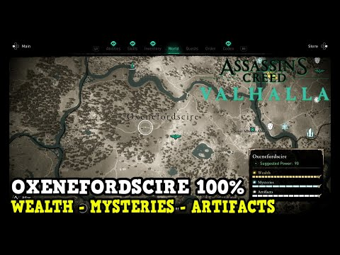 Assassin's Creed Valhalla Oxenefordscire All Collectibles (Wealth, Mysteries, Artifacts)