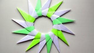 Оригами звезда схема - Оригами из бумаги Сюрикен