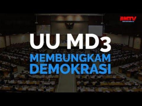 UU MD3 Membungkam Demokrasi