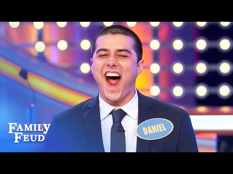 Daniel (1st player) lands a massive score! | Family Feud
